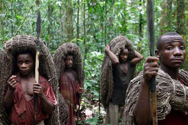 Mysterious tribe in Amazon